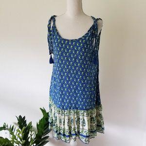 Faithfull the Brand Elixir Dress Indigo Paisley